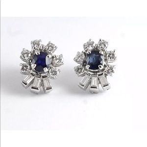 Jewelry - PLATINUM AND DIAMOND EARRINGS WITH APPRAISAL
